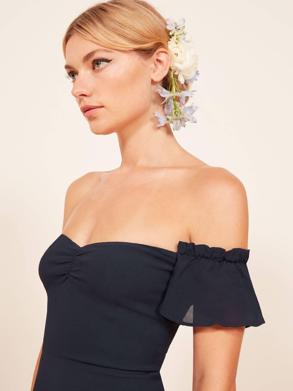 리포메이션 원피스 Reformation Butterfly Dress,Navy