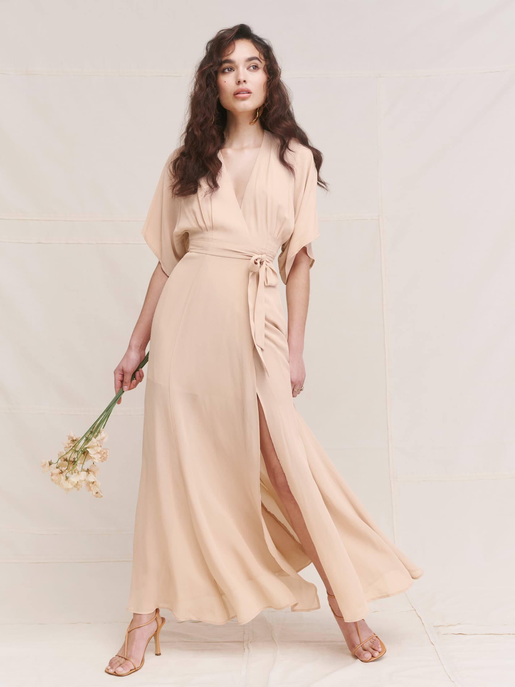 리포메이션 Reformation Winslow Dress,Champagne