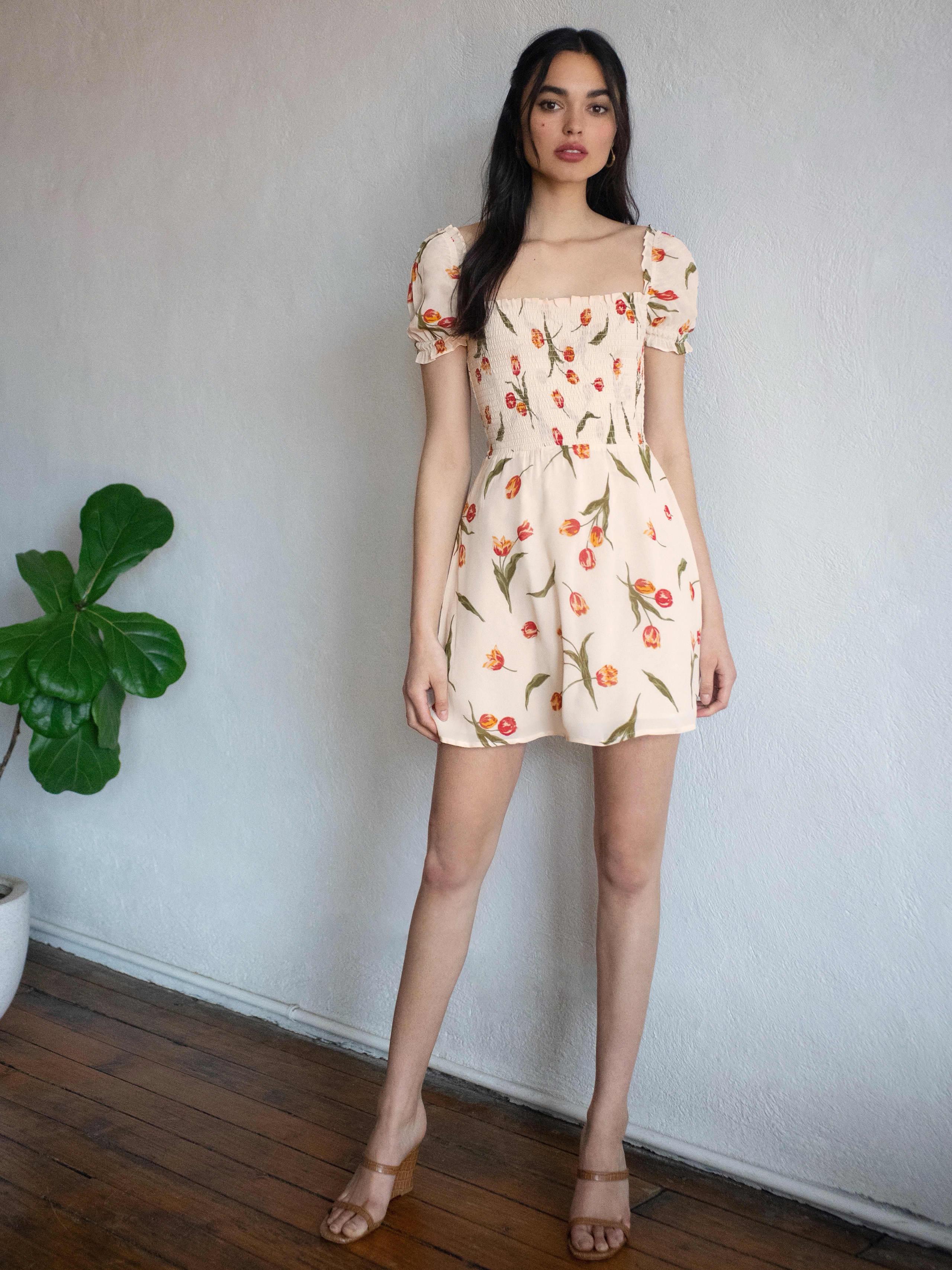 리포메이션 Reformation Orangerie Dress,Bianca