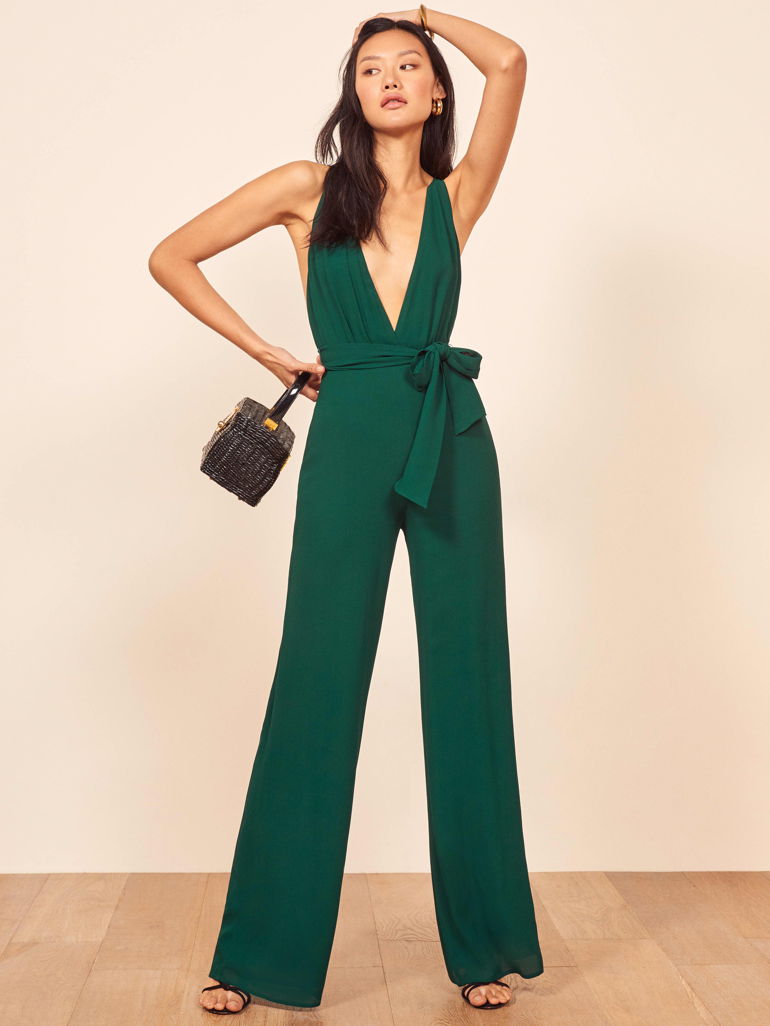 리포메이션 Reformation Sofi Jumpsuit,Emerald