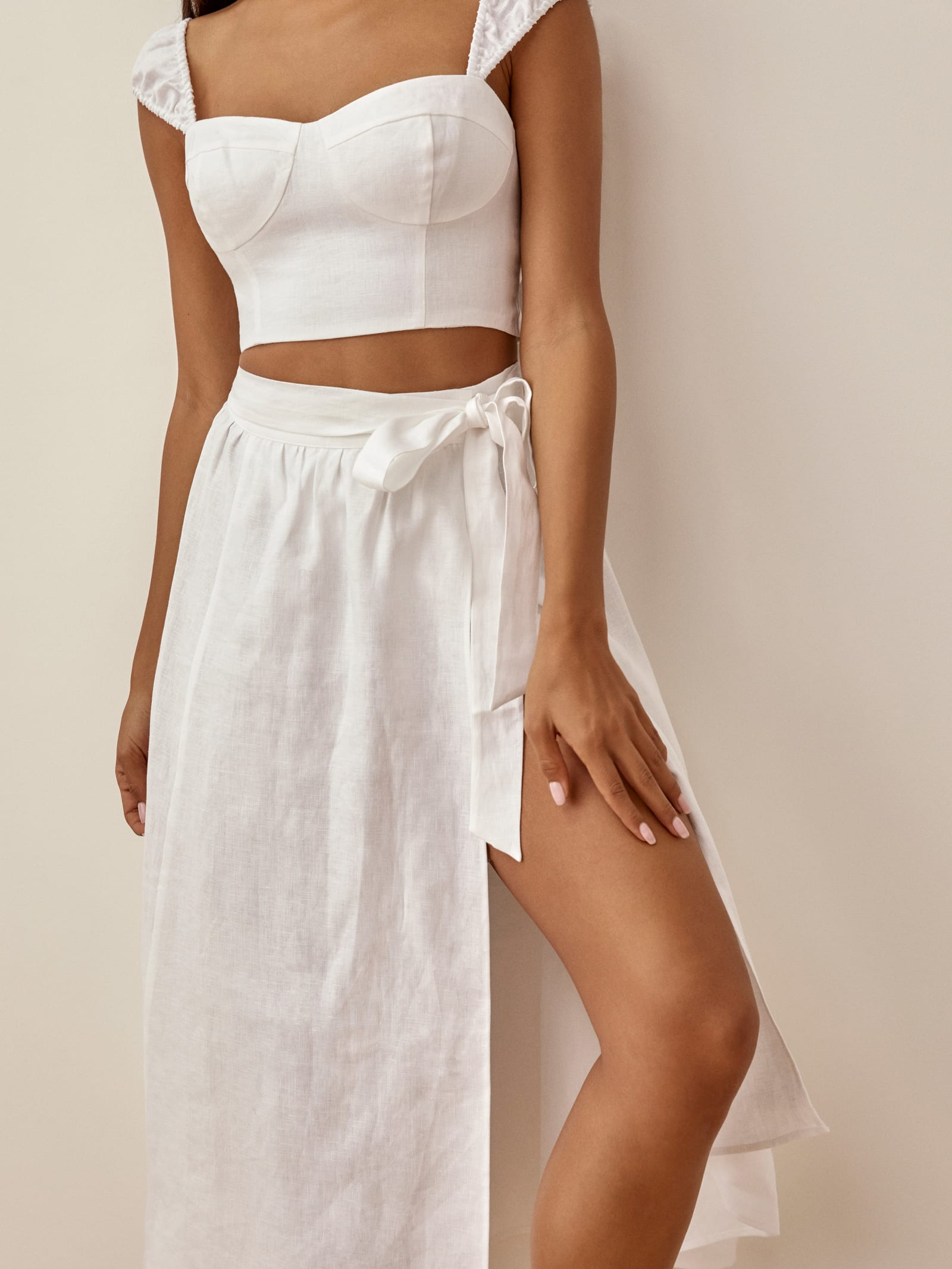 Clyde Linen Two Piece   Reformation