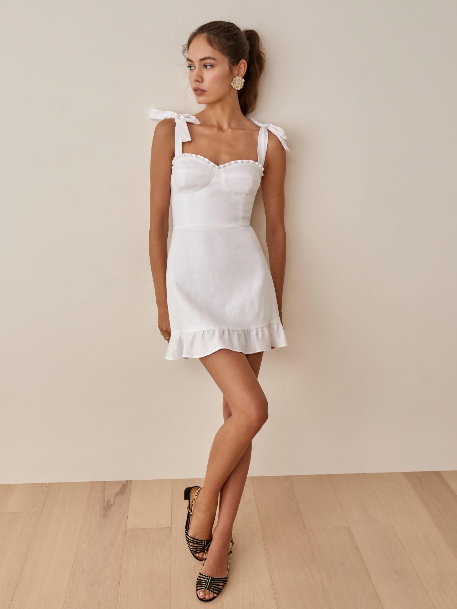 Desiree Linen Dress   Reformation