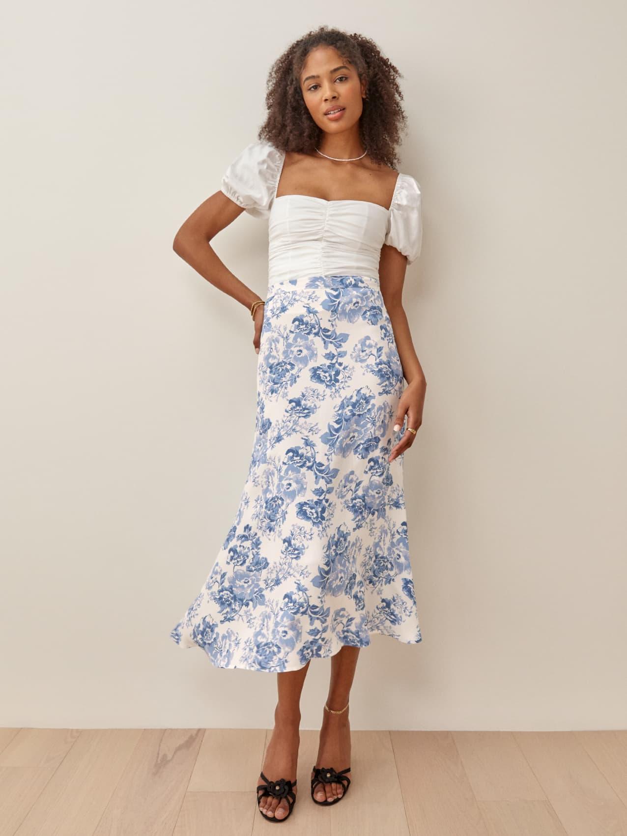 Bea Skirt   Reformation