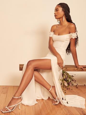 리포메이션 원피스 [미국공홈 정품] Reformation Gimlet Dress,Ivory