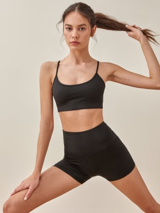 리포메이션 Reformation Sammie Ecostretch Bra,Black