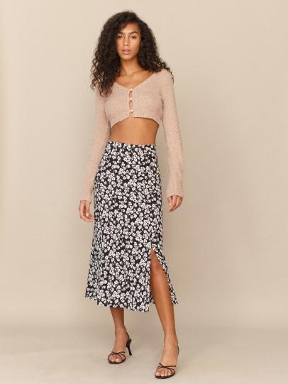 리포메이션 Reformation Scarpetta Skirt,Elaine