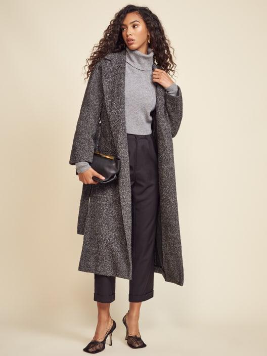 리포메이션 Reformation Gooding Coat,Dark Grey