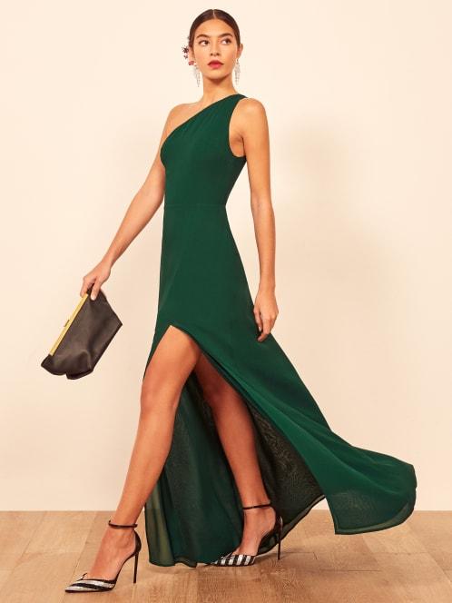 리포메이션 원피스 [미국공홈 정품] Reformation Evelyn Dress,Emerald