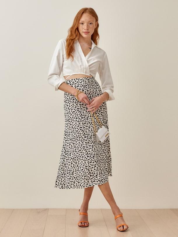 리포메이션 Reformation Bea Skirt,Ocelot
