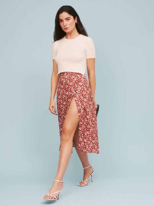 리포메이션 Reformation Betty Skirt,Flower Girl