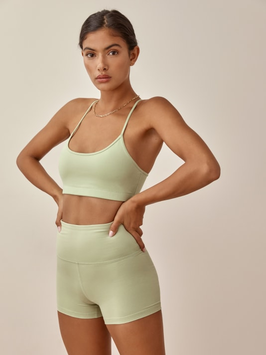 리포메이션 Reformation Sammie Ecostretch Bra,Limon