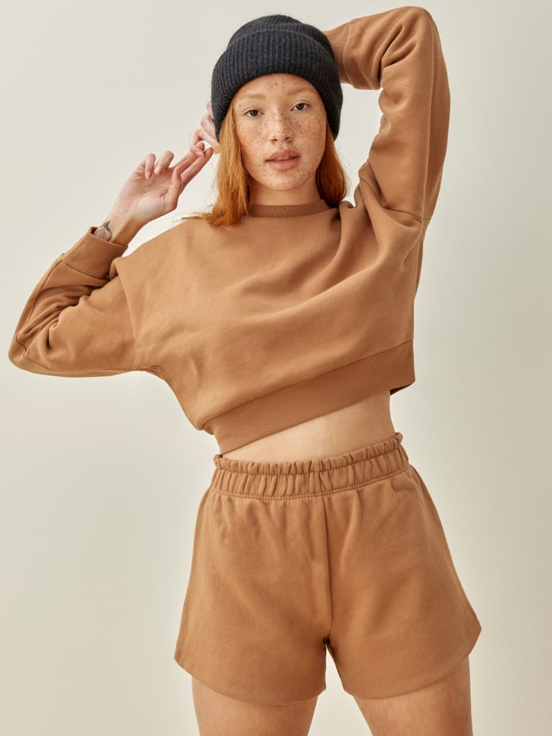 리포메이션 Reformation 헌터 Hunter Classic Sweatshirt,Butterscotch