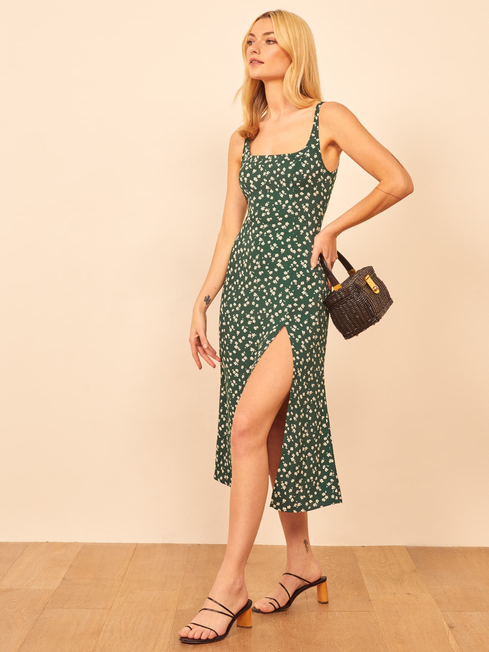 Gilmore Dress by Reformation, available on thereformation.com for $158 Kaia Gerber Dress SIMILAR PRODUCT