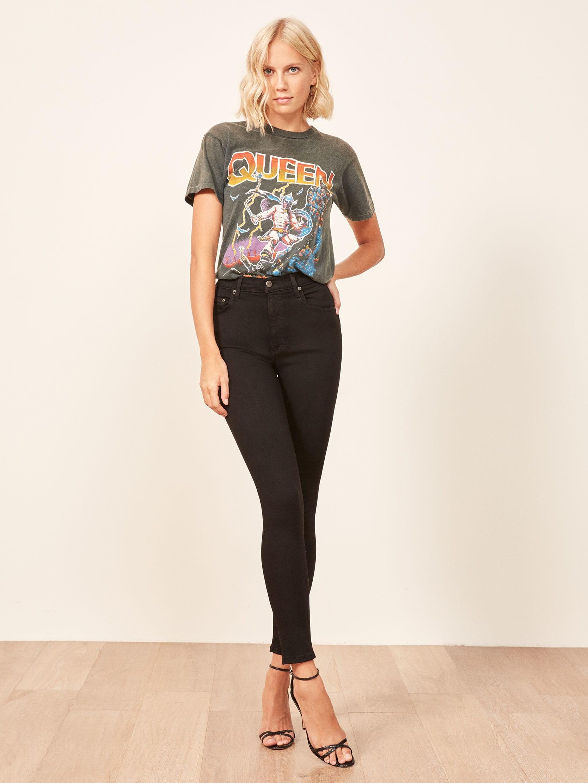 Harper High Rise Skinny Jeans Sustainable Denim Reformation