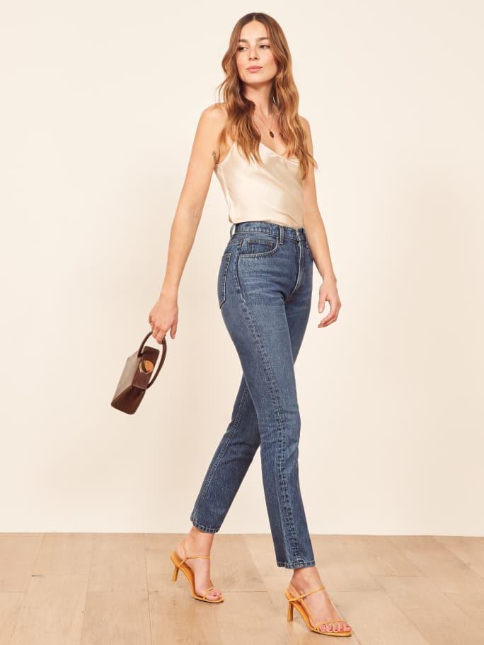 Veste en jean longue look